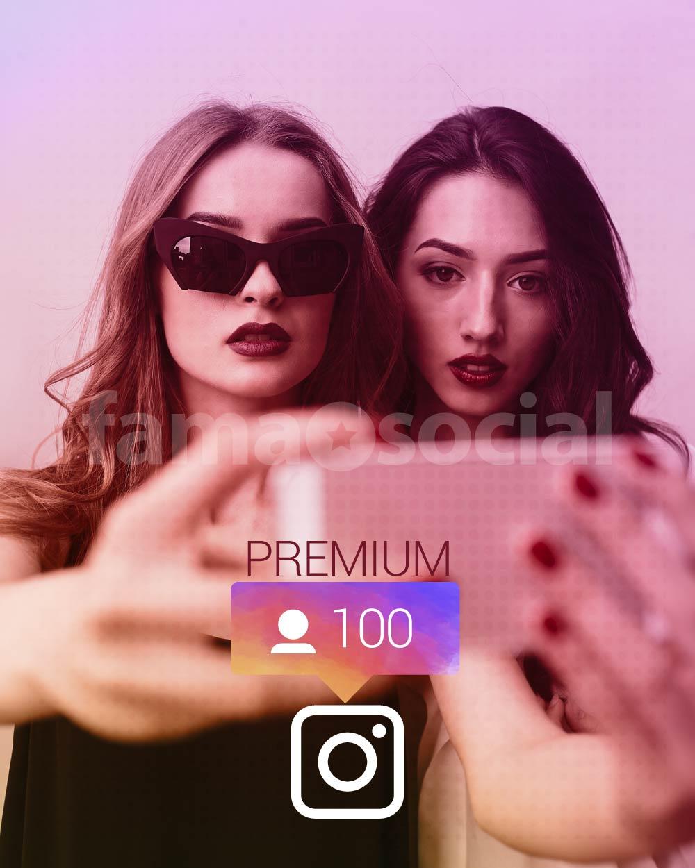 100 Seguidores Premium para instagram
