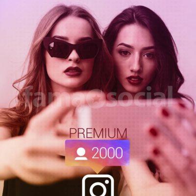 2000 Seguidores Premium para instagram