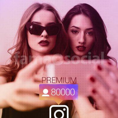 80000 Seguidores Premium para instagram